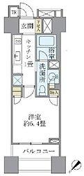 東京メトロ銀座線 銀座駅 徒歩6分の賃貸マンション 10階1Kの間取り