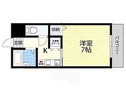 JR東海道・山陽本線 高槻駅 バス31分 消防署前下車 徒歩4分の賃貸マンション 4階1Kの間取り
