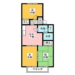 ファミール25[2階]の間取り