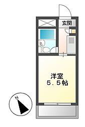 ドール呼続[1階]の間取り