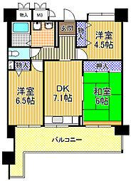 コーシャハイツ酉島[14階]の間取り
