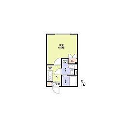 (仮称)早稲田鶴巻町PJ(ワセダツルマキチョウプロジェクト) 2階1Kの間取り