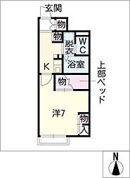 レオパレスコンフォートB[1階]の間取り