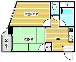 久栄ハイツ[4階]の間取り
