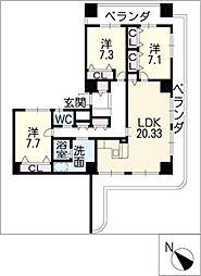 ARDEA[20階]の間取り