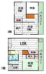 [一戸建] 大阪府茨木市中穂積2丁目 の賃貸【大阪府 / 茨木市】の間取り