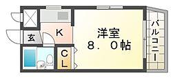 JPアパートメント尼崎II[3階]の間取り