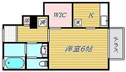 東京都墨田区八広1丁目の賃貸アパートの間取り