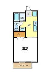 兵庫県加古郡播磨町東野添1丁目の賃貸アパートの間取り