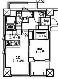 Cour Maison 1階1LDKの間取り