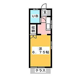 モンパレス鹿沼第2 4号館[2階]の間取り