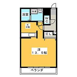 PARK SIDE[2階]の間取り