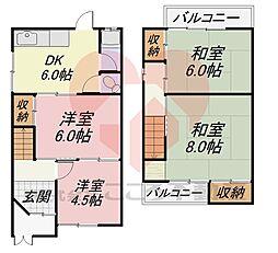 堺市東区日置荘北町2丁戸建 1階4DKの間取り