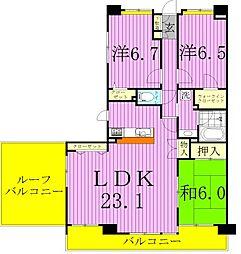新松戸ガーデニア[8階]の間取り