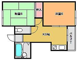 平城山パート5[2階]の間取り