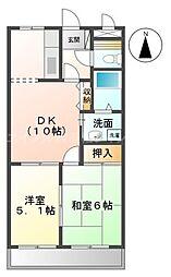 香川県高松市香川町大野の賃貸マンションの間取り