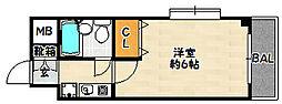 兵庫県神戸市兵庫区水木通2丁目の賃貸マンションの間取り
