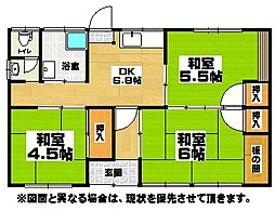 [一戸建] 福岡県北九州市小倉南区蒲生4丁目 の賃貸【/】の間取り