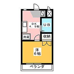 Amigo 16[2階]の間取り