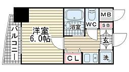 ランドマークシティ神戸西元町[602号室]の間取り