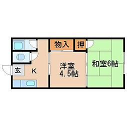 タナカハウス[2階]の間取り