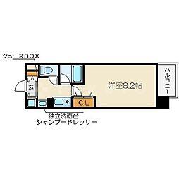 レジュールアッシュ梅田イースト[4階]の間取り