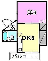 松浦第2ビル[302 号室号室]の間取り