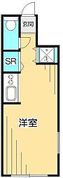 ラスカサス国分寺[1階]の間取り