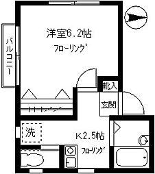 クレール柿の木坂[201号室]の間取り