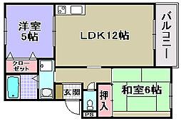 グッドライフ21B[105号室]の間取り