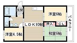 サンライズマンション[101号室]の間取り
