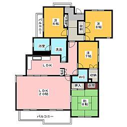 御棚マンション[1階]の間取り