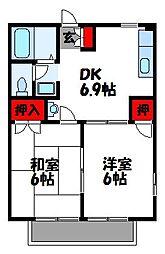 エルコート古賀駅東[2階]の間取り
