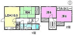 [一戸建] 愛媛県松山市今在家1丁目 の賃貸【/】の間取り
