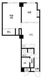 第一大黒ビル bt[402kk号室]の間取り