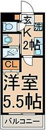 東京都福生市牛浜の賃貸マンションの間取り