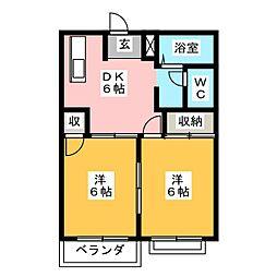オレンジアベニュー[2階]の間取り
