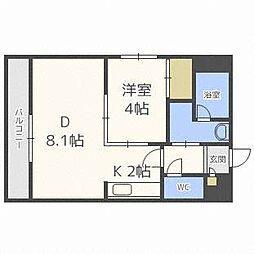ラッフィナート[4階]の間取り