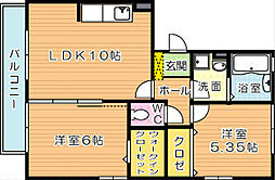 ノートルアージュブラン[2階]の間取り
