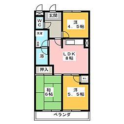 地蔵マンション[4階]の間取り