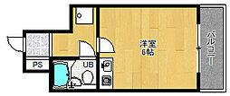 マンション輝[5階]の間取り