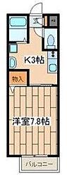 神奈川県相模原市緑区東橋本2の賃貸アパートの間取り