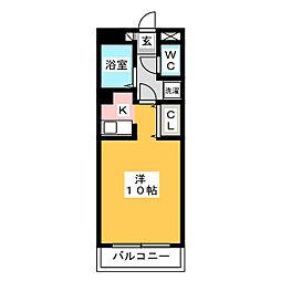 レオンド浄水南[2階]の間取り