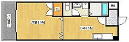 クラウンV[4階]の間取り
