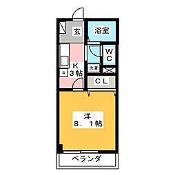 グランデージフルール[2階]の間取り