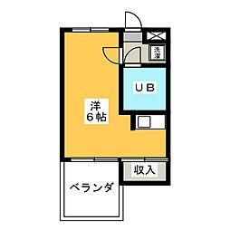 フィオーレ竜美台[2階]の間取り