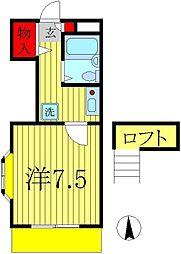 マロンハイツ 三郷[1階]の間取り