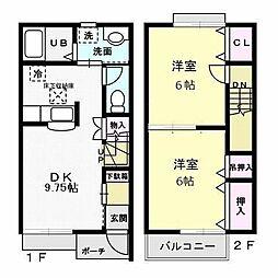 フローラ霞ヶ岡2階Fの間取り画像