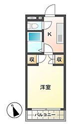 コーポソイビーン W棟[1階]の間取り