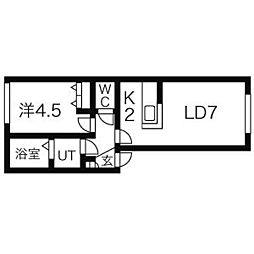 桑園ダルク[1階]の間取り
